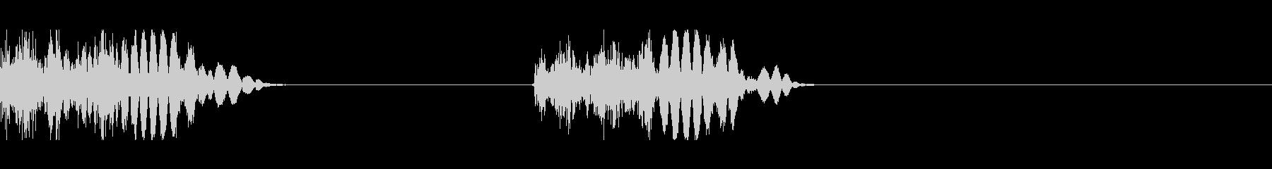 モンスターの足音 2(間隔短め)の未再生の波形