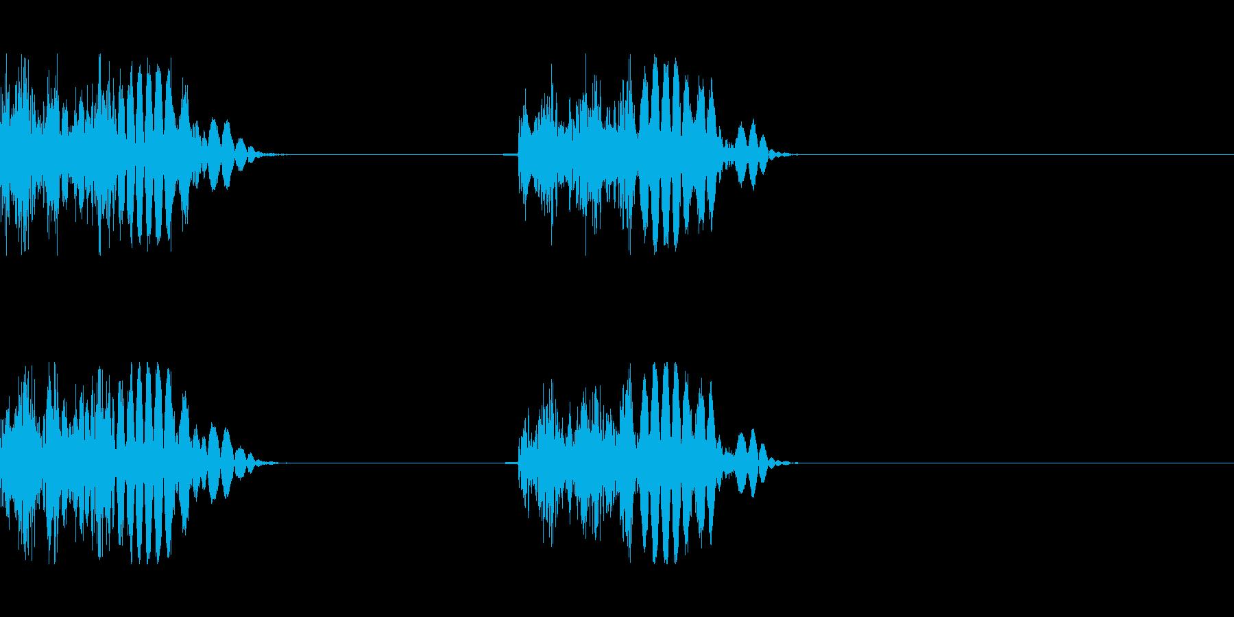モンスターの足音 2(間隔短め)の再生済みの波形