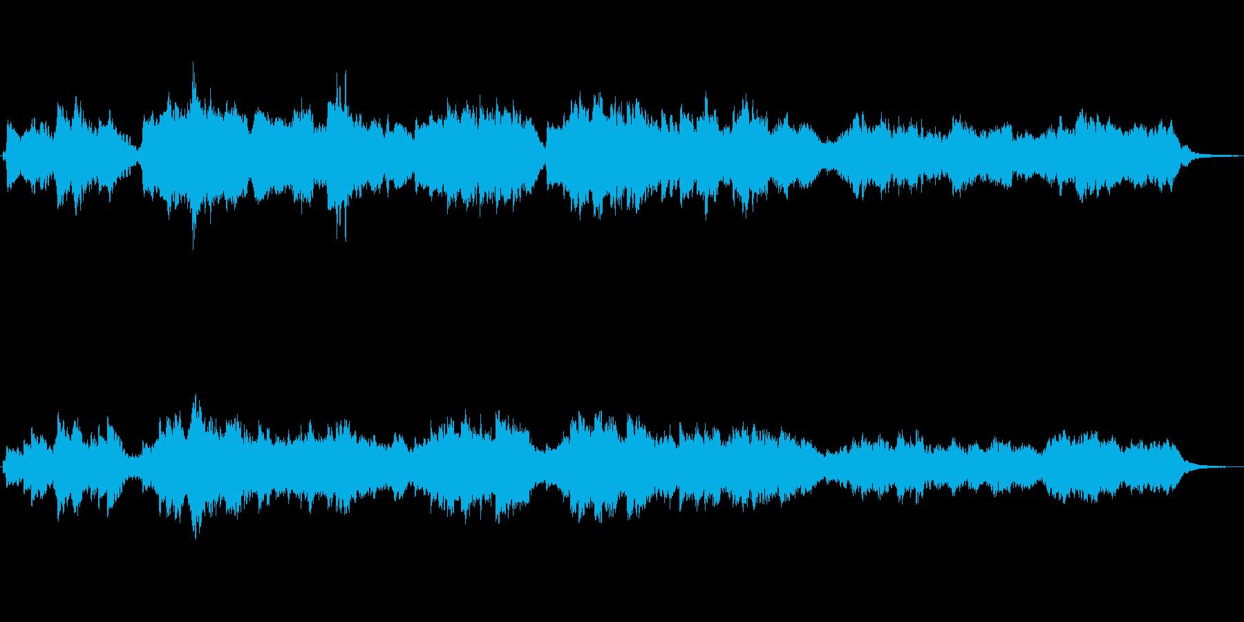 ストリングスとチェレスタのメルヘンの世界の再生済みの波形
