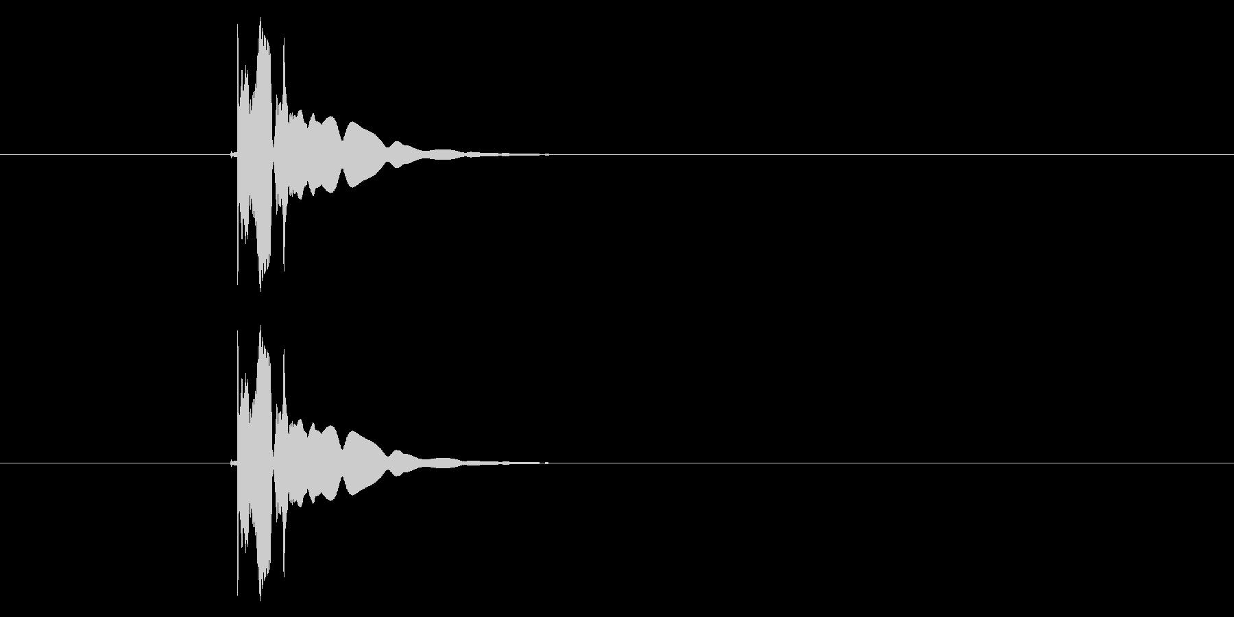 キュイーン(決定音、プッシュ音)の未再生の波形