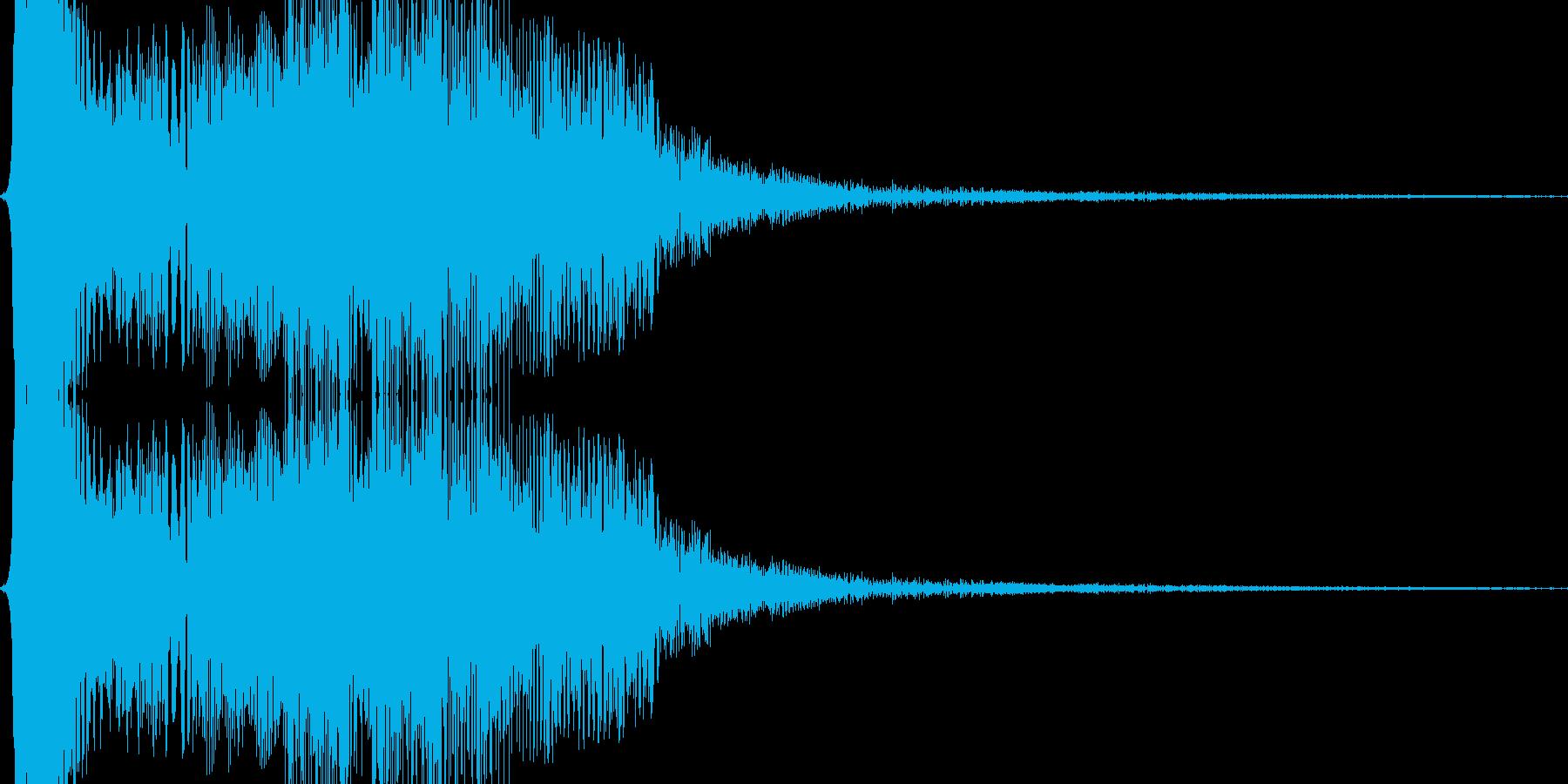 シャッと瞬間移動する02の再生済みの波形