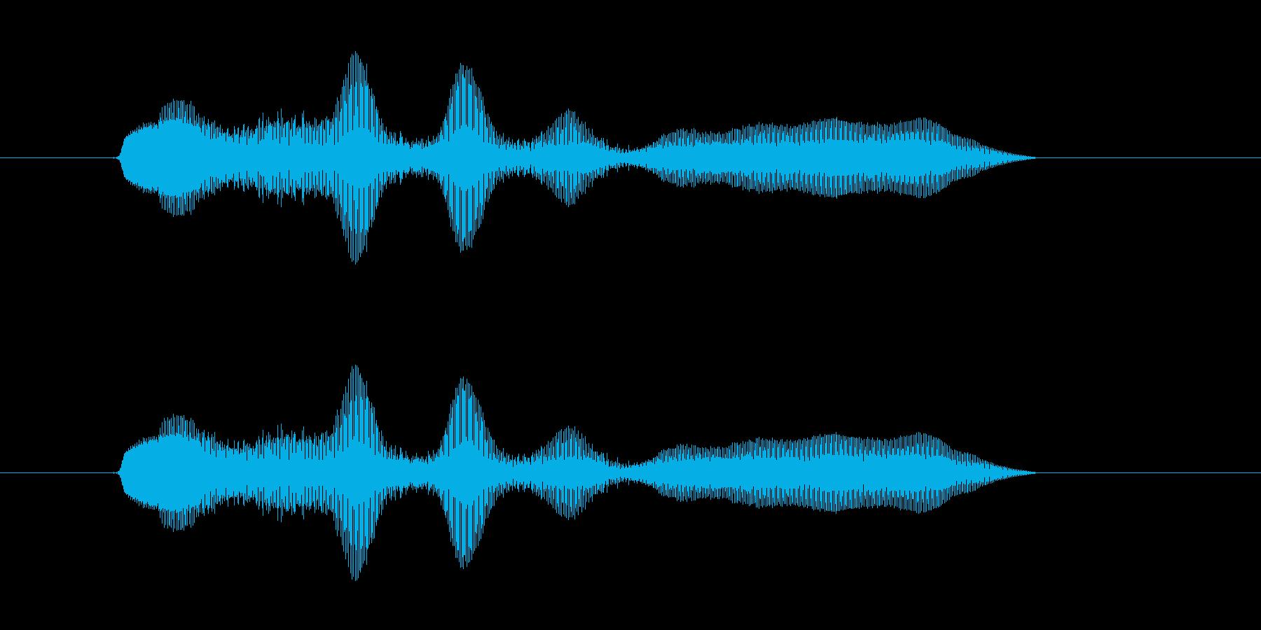 ぬははははー(ぬはは・ヌハハ)の再生済みの波形