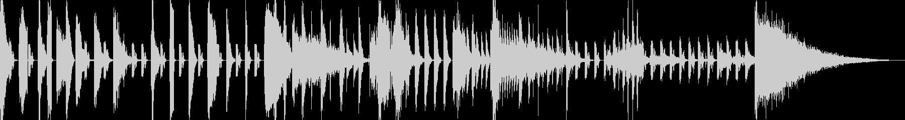 アクセントダンス1の未再生の波形