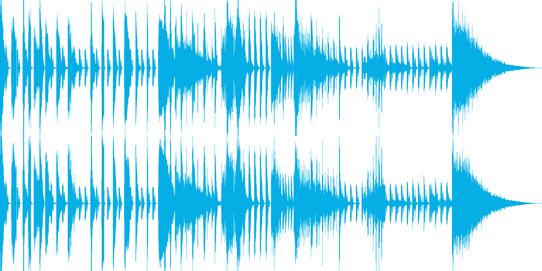 アクセントダンス1の再生済みの波形