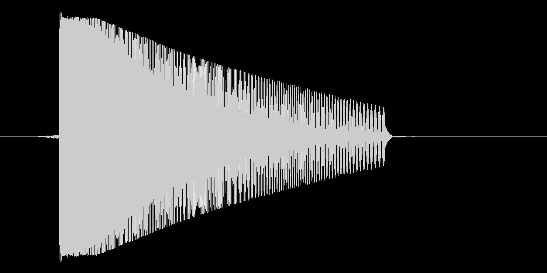 ゲーム(ファミコン風)レーザー音_045の未再生の波形
