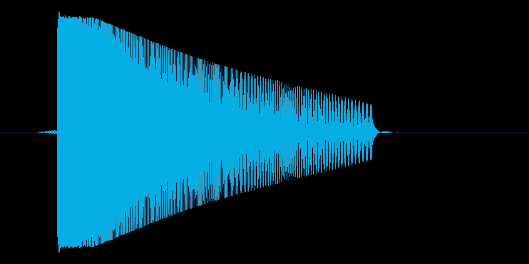 ゲーム(ファミコン風)レーザー音_045の再生済みの波形