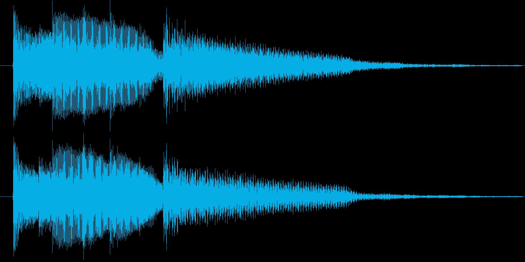 ギター転回音の再生済みの波形