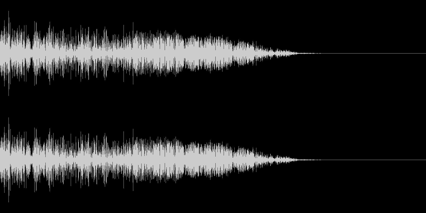 シュッ(スワイプ/斬撃/ゲーム)の未再生の波形