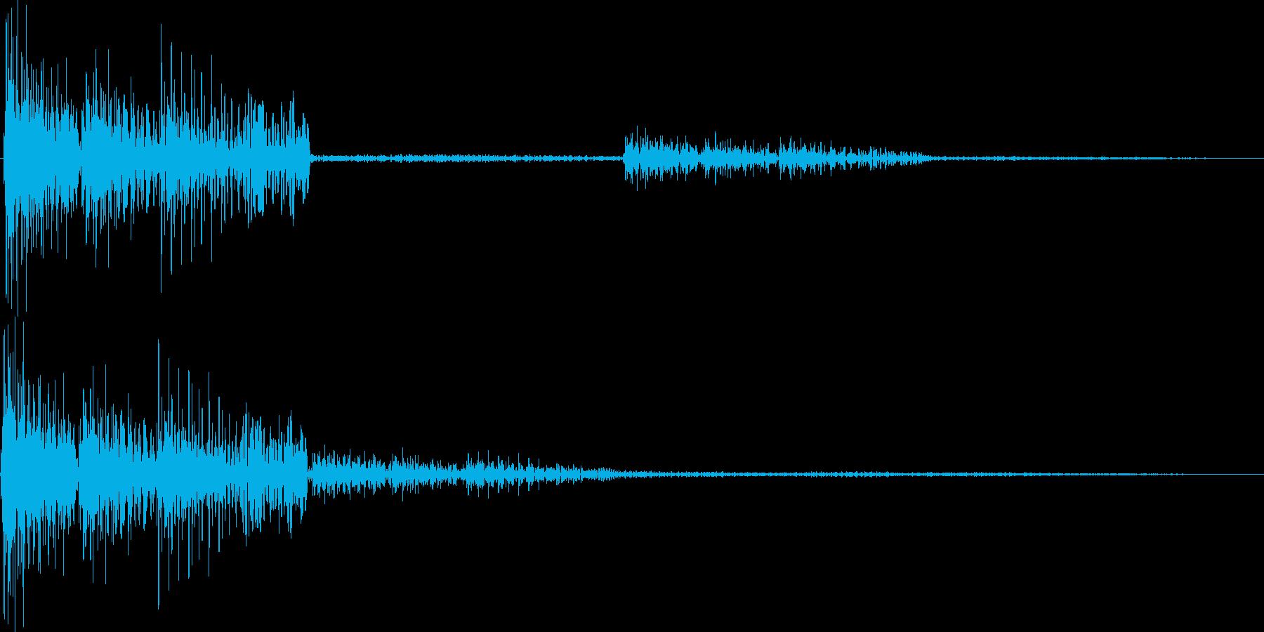 テロロロン(ミス、アウト、キャンセル)の再生済みの波形