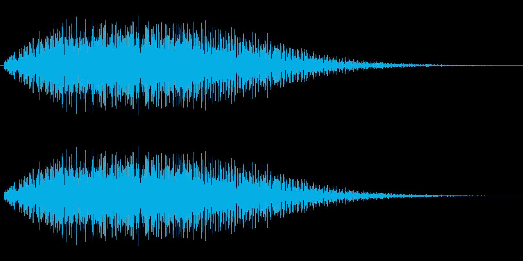 チャラララ(アップ)の再生済みの波形