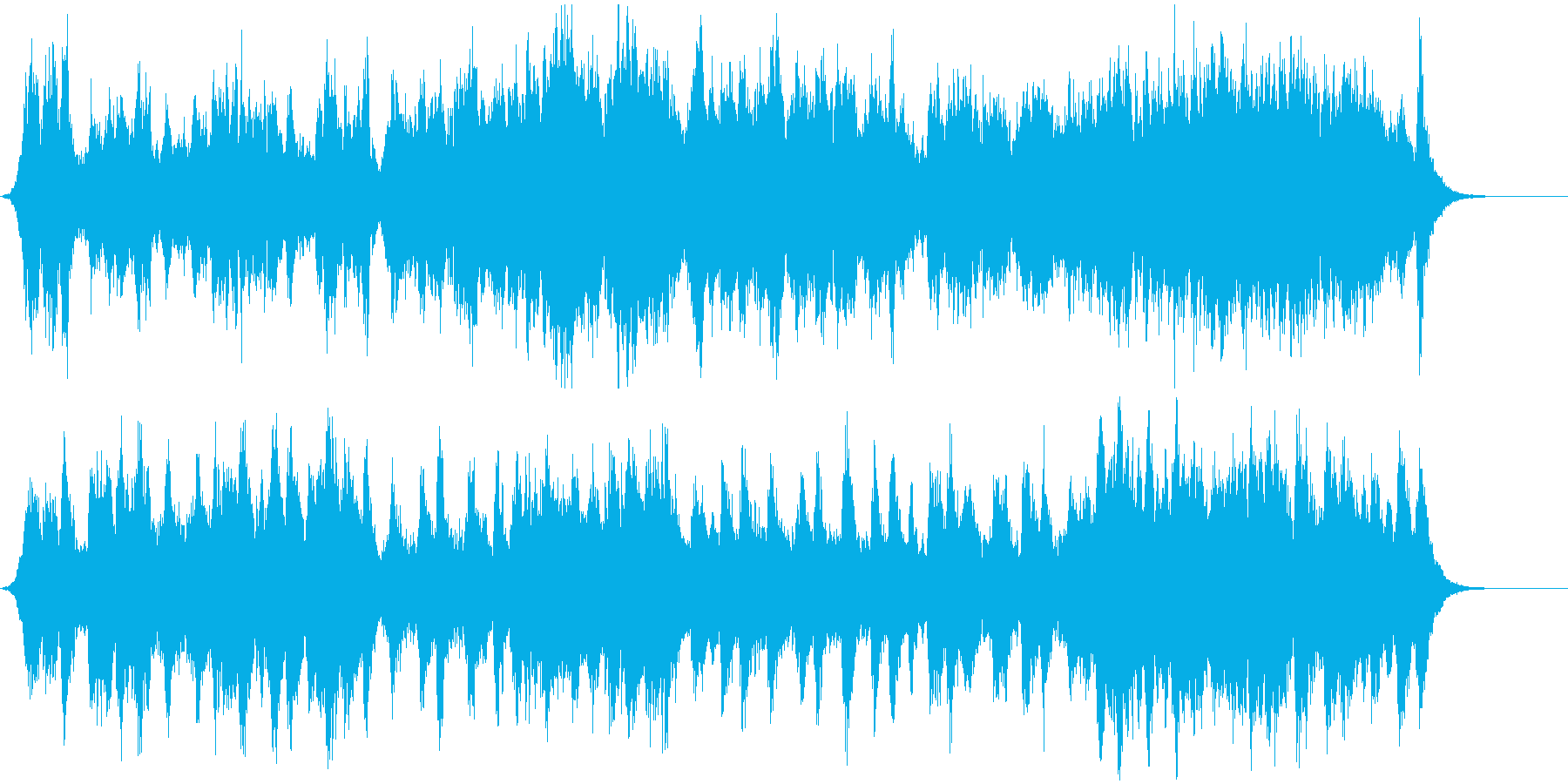 オープニング向けの壮大なオーケストラの再生済みの波形