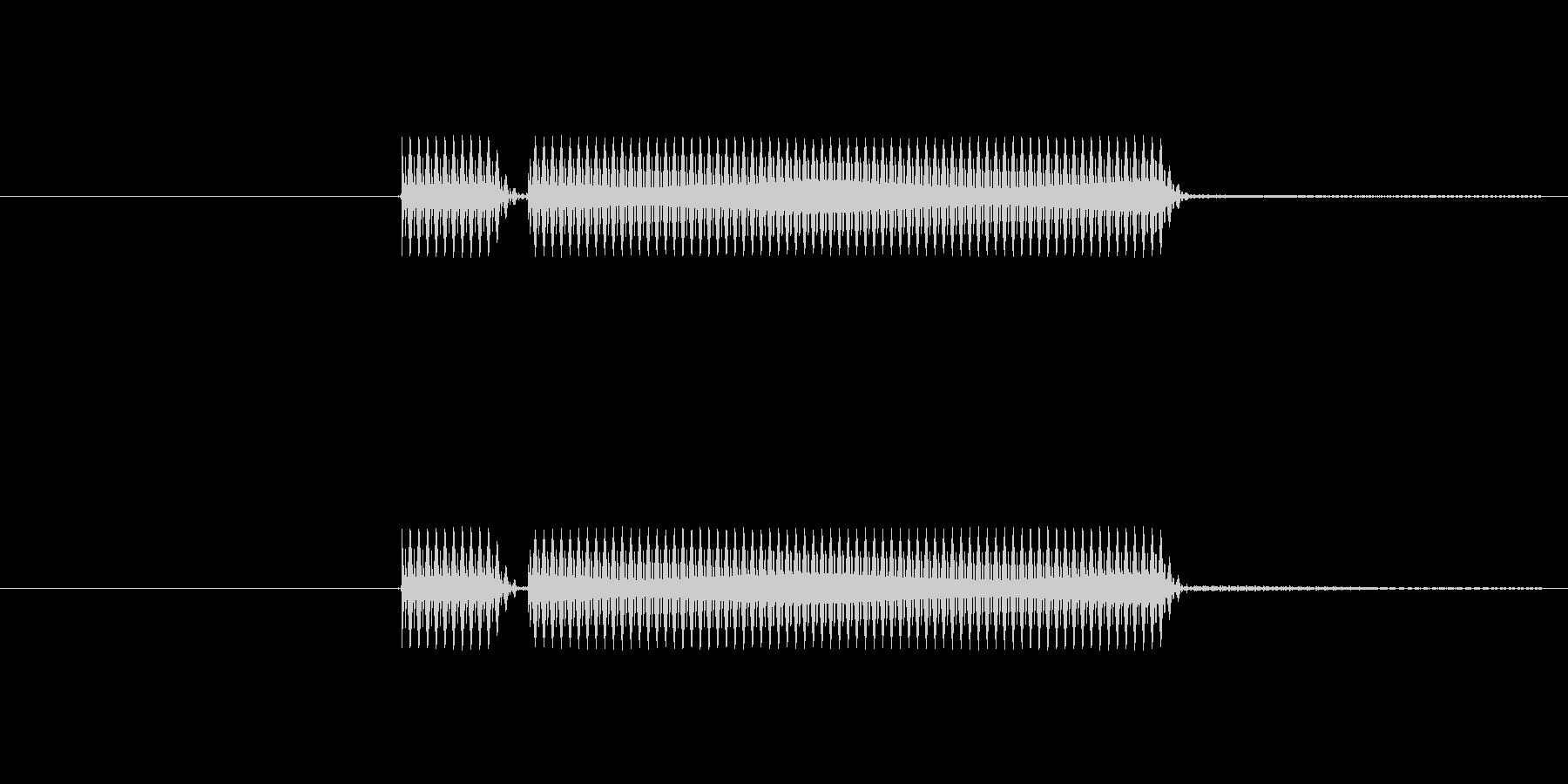 よくあるクイズでのブッブーってやつです。の未再生の波形