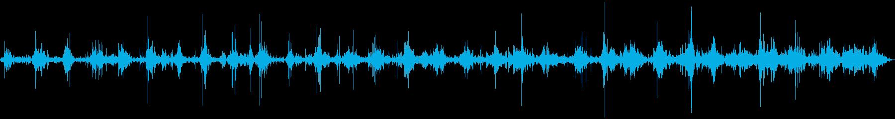 山の中を歩く時の音のサンプリングの再生済みの波形