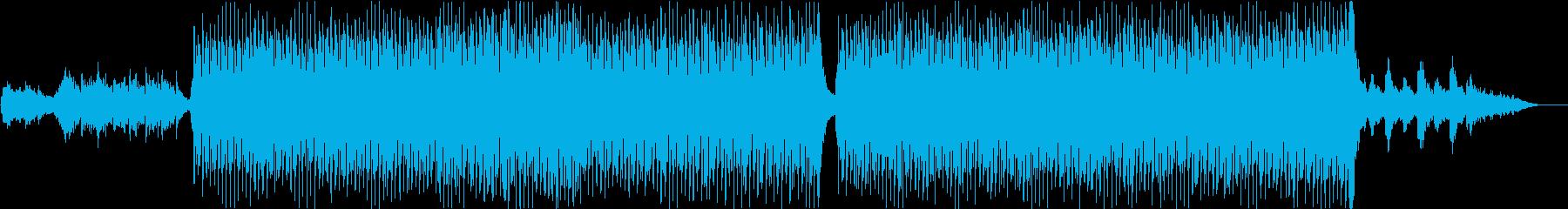 ドキュメンタリー系BGMの再生済みの波形