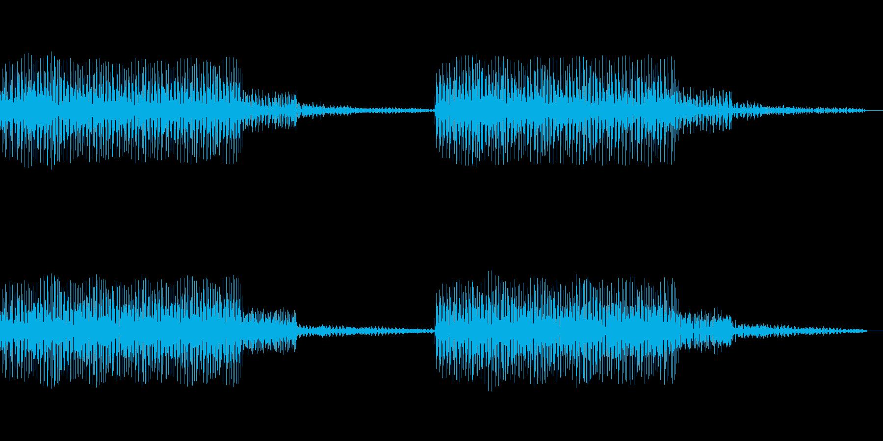 ブーブーというサイレンやアラームの音ですの再生済みの波形