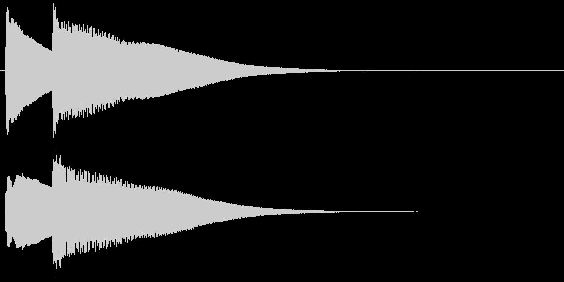 チェレスタによるシンプルな正解効果音の未再生の波形
