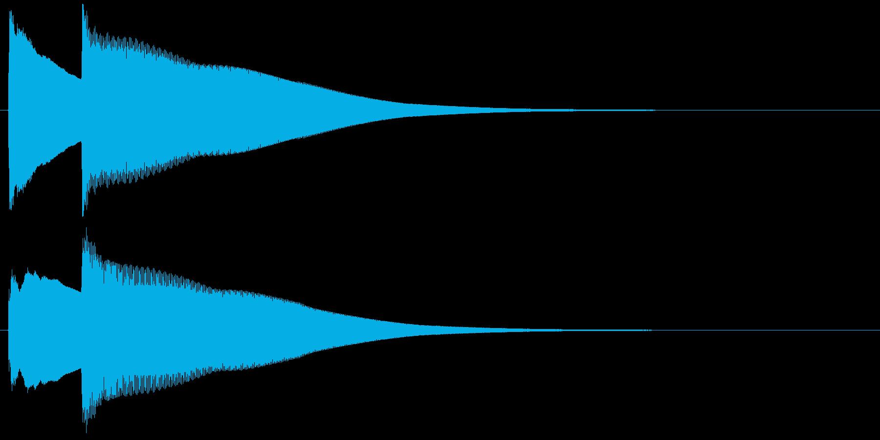 チェレスタによるシンプルな正解効果音の再生済みの波形