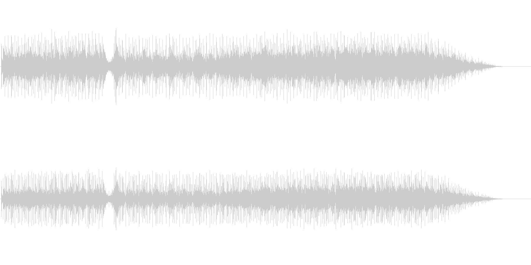 オープニング向きフュージョンの未再生の波形