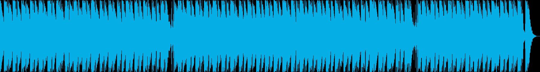 夜空を眺めてリラックスするスローテンポ曲の再生済みの波形