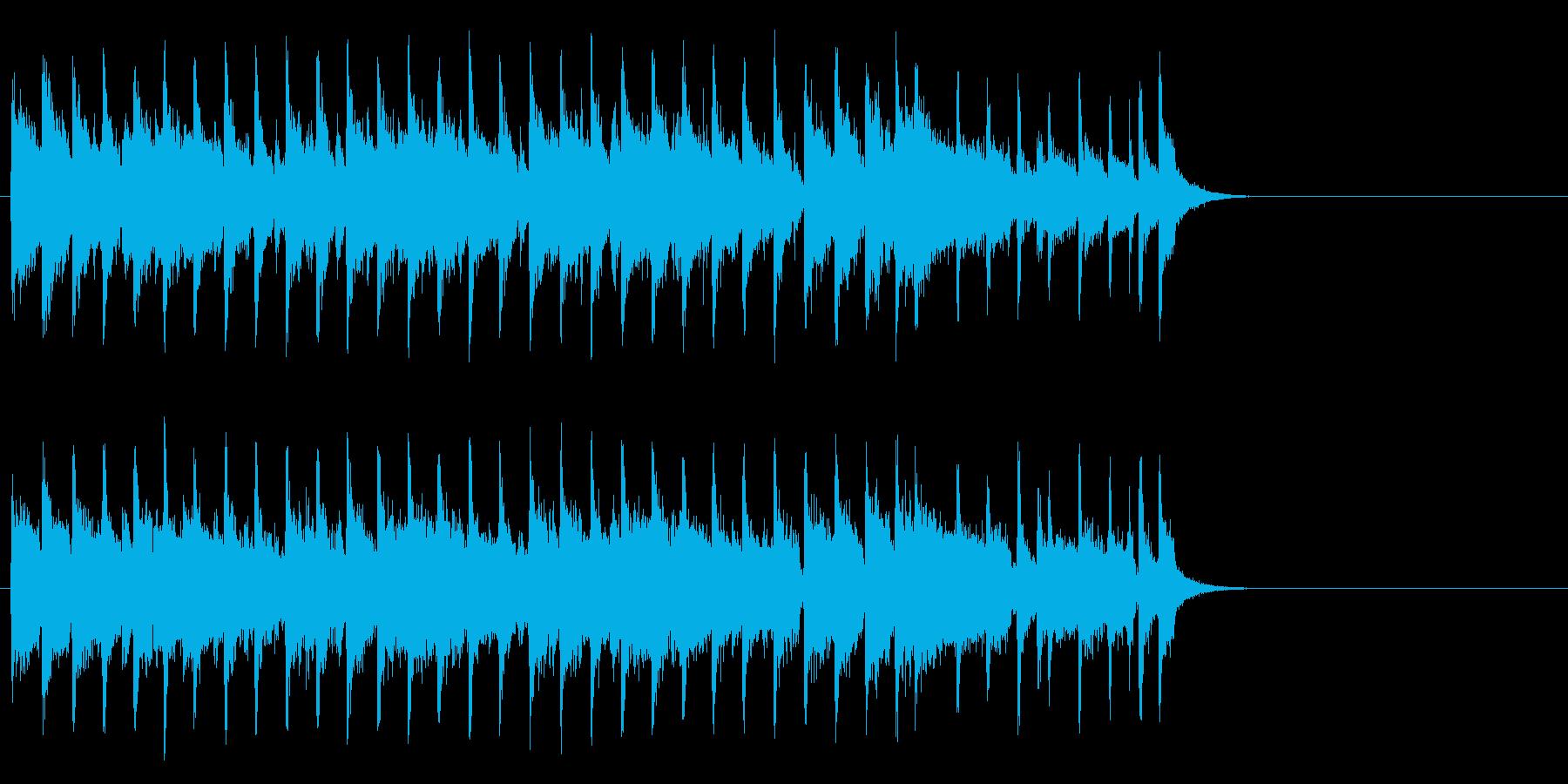 ブリティッシュなポップ(サビ)の再生済みの波形