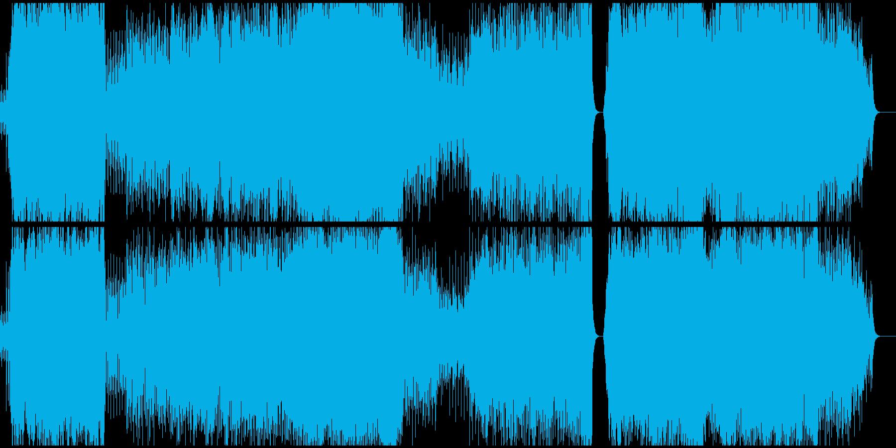 スケール感のあるEDMの再生済みの波形