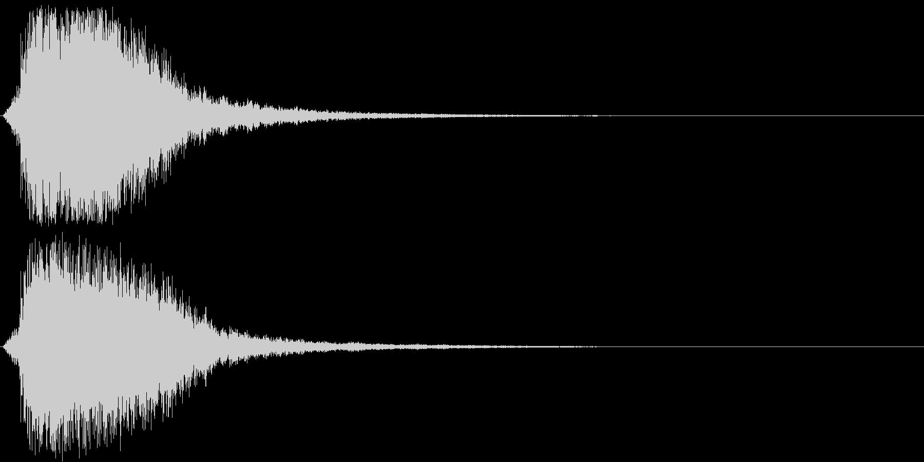 シャキーン(刀や剣、強烈インパクト)3bの未再生の波形