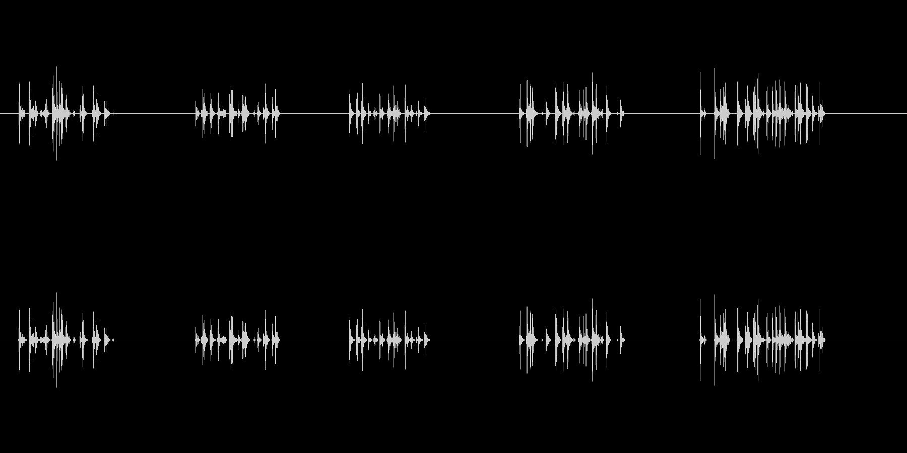 タイピング音です。の未再生の波形