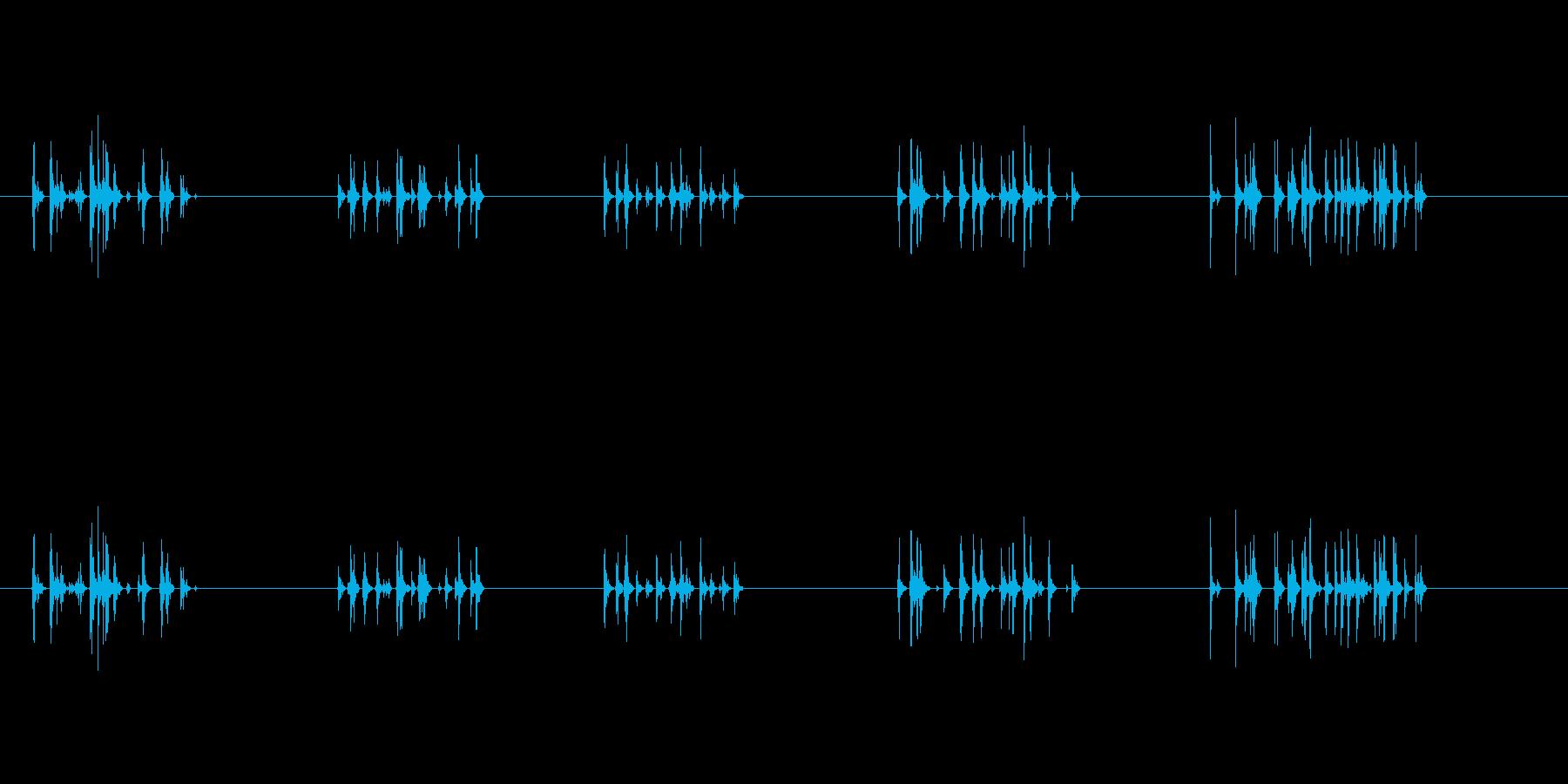 タイピング音です。の再生済みの波形