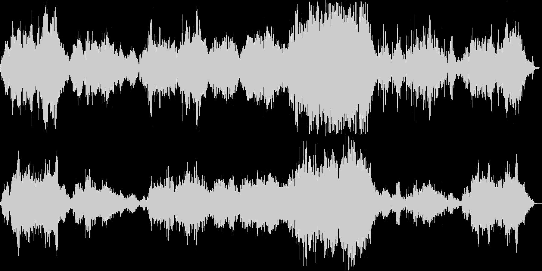 感動的なシンセ・管楽器などのサウンドの未再生の波形