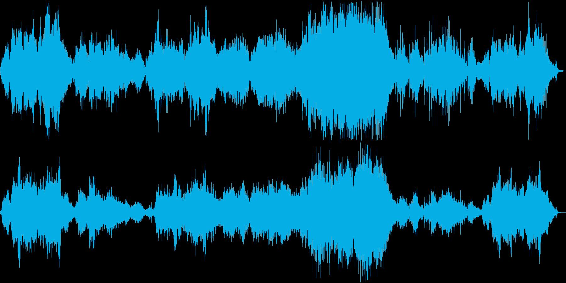 感動的なシンセ・管楽器などのサウンドの再生済みの波形