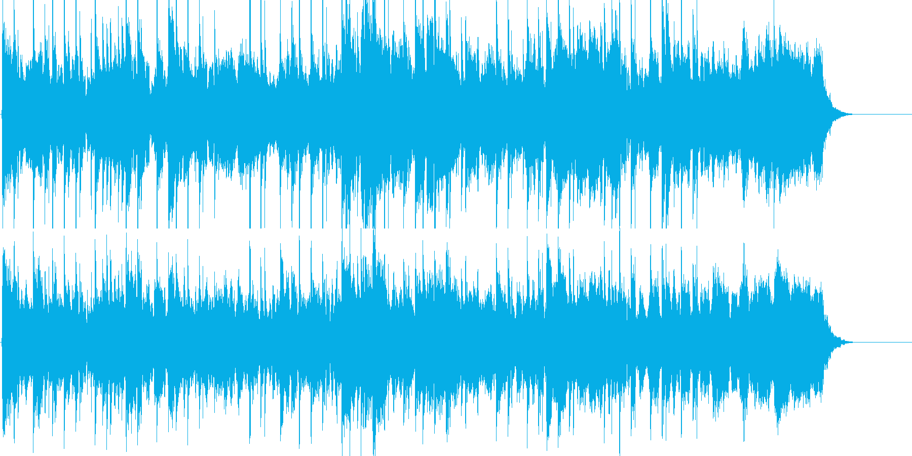 幻想的で哀愁感のあるフュージョンの再生済みの波形