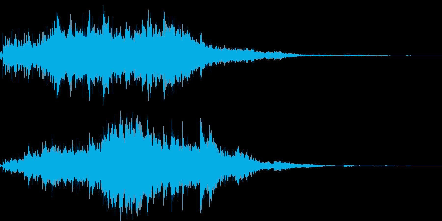 素敵な演出に綺麗なキラキラ音5(長め)の再生済みの波形
