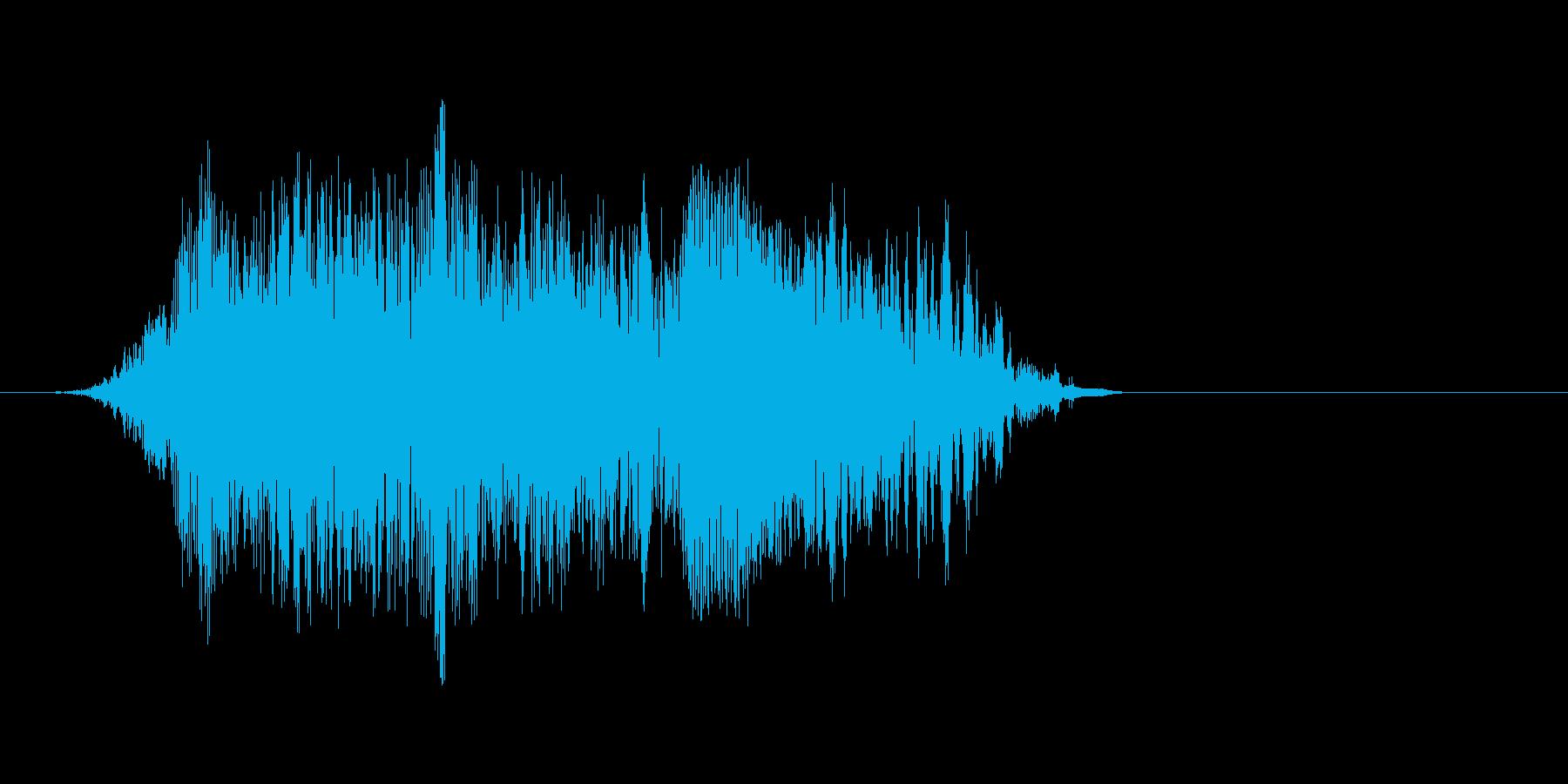 出現時咆哮(きしゃーの再生済みの波形