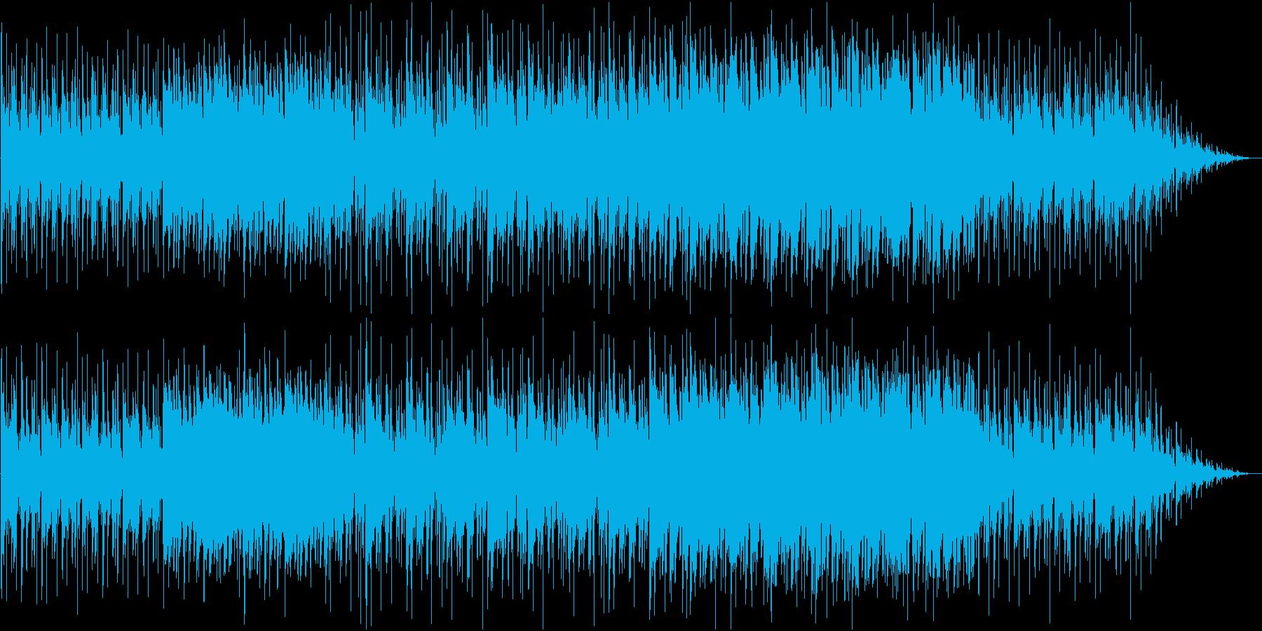 だるっとしたお洒落な雰囲気のBGMの再生済みの波形