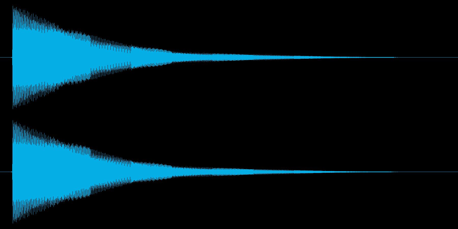決定/電子音/シューティング/ピロピロ…の再生済みの波形