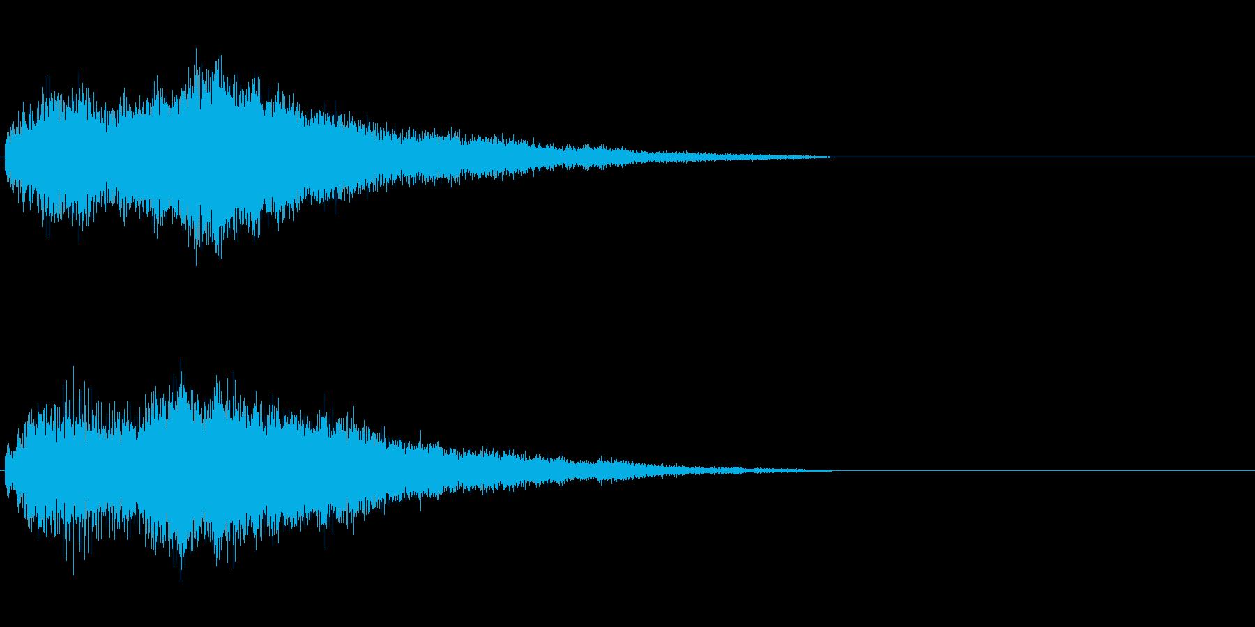 ↑アイテム・レベルアップ・魔法効果音の再生済みの波形