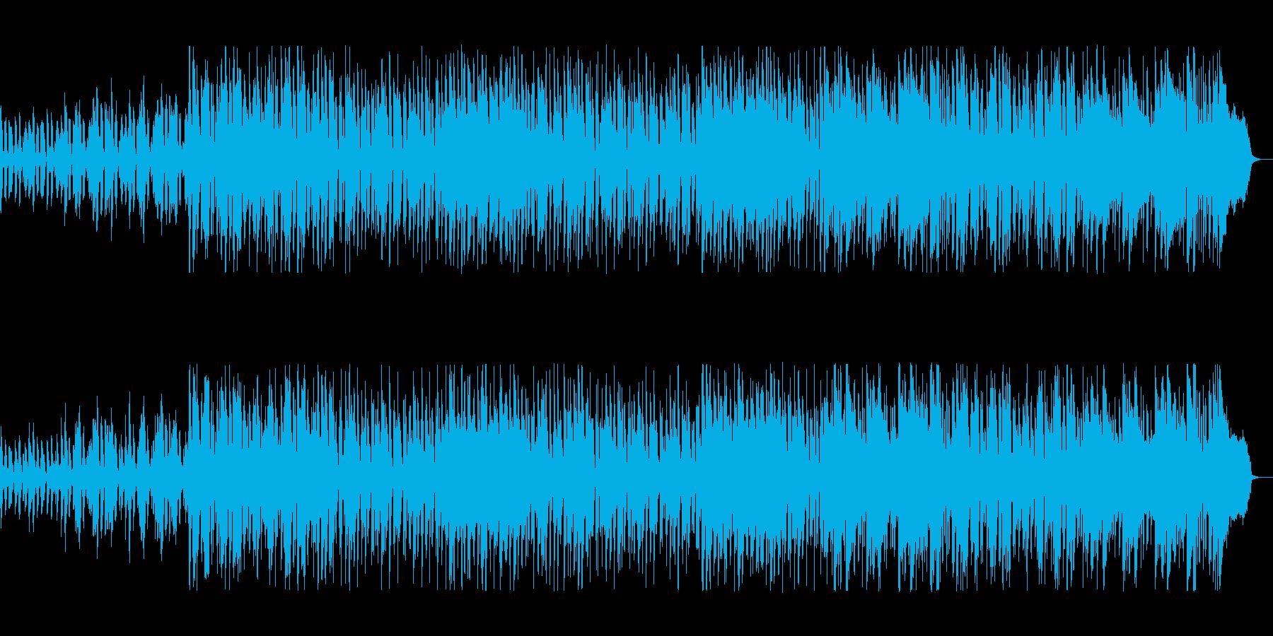 楽しい雰囲気の軽やかなキーボードポップスの再生済みの波形