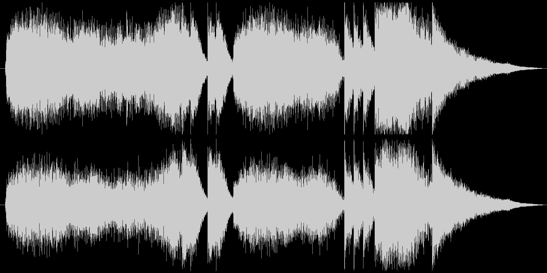 特撮、SF映画、アニメのタイトルバック曲の未再生の波形
