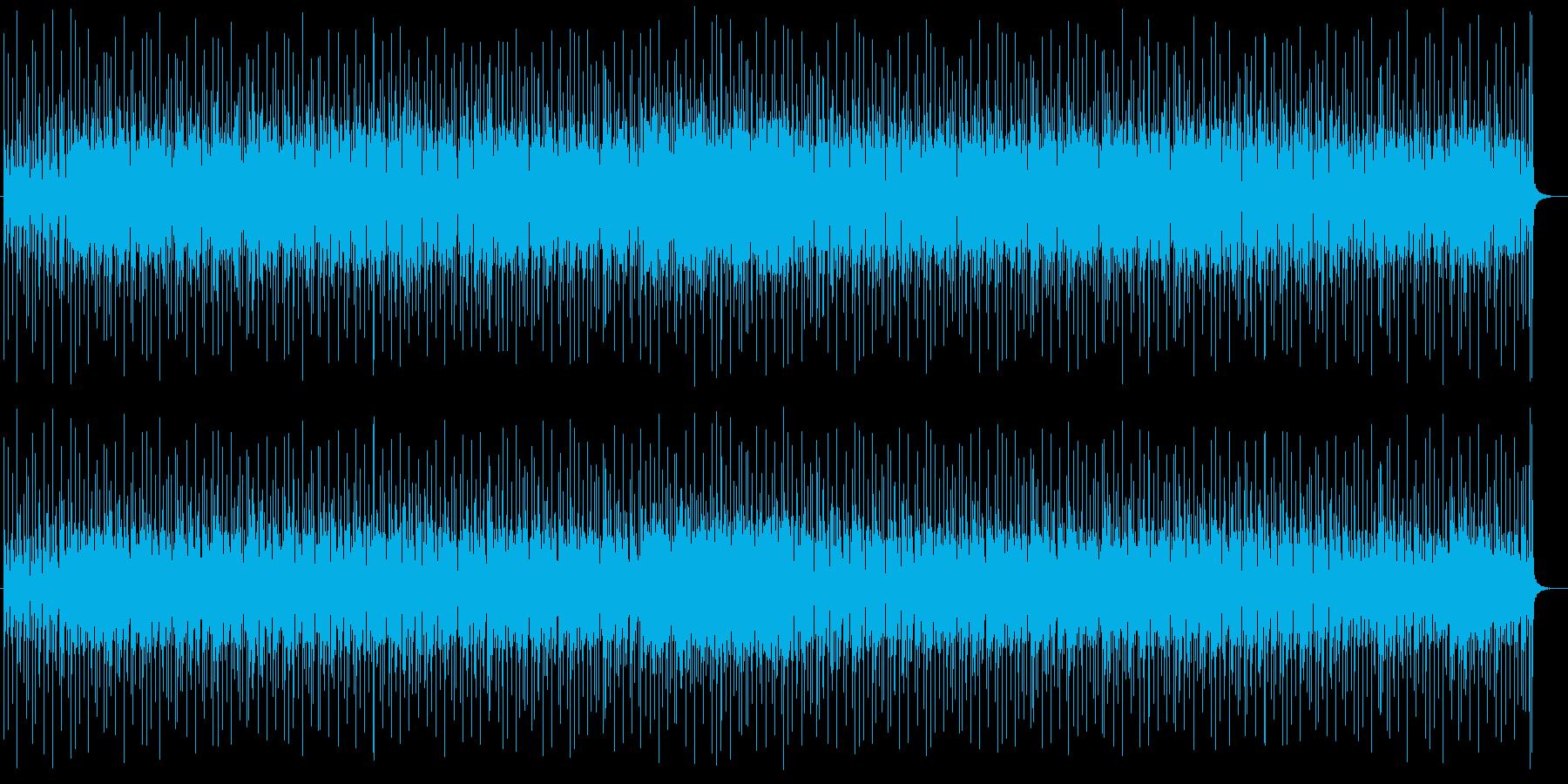 無機質なテクノポップ系の再生済みの波形