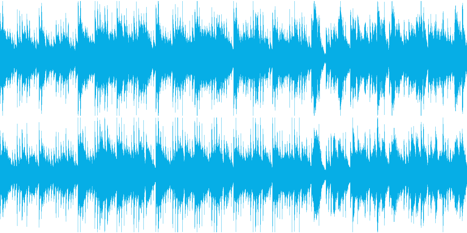 水の中をイメージした癒し系ループBGMの再生済みの波形