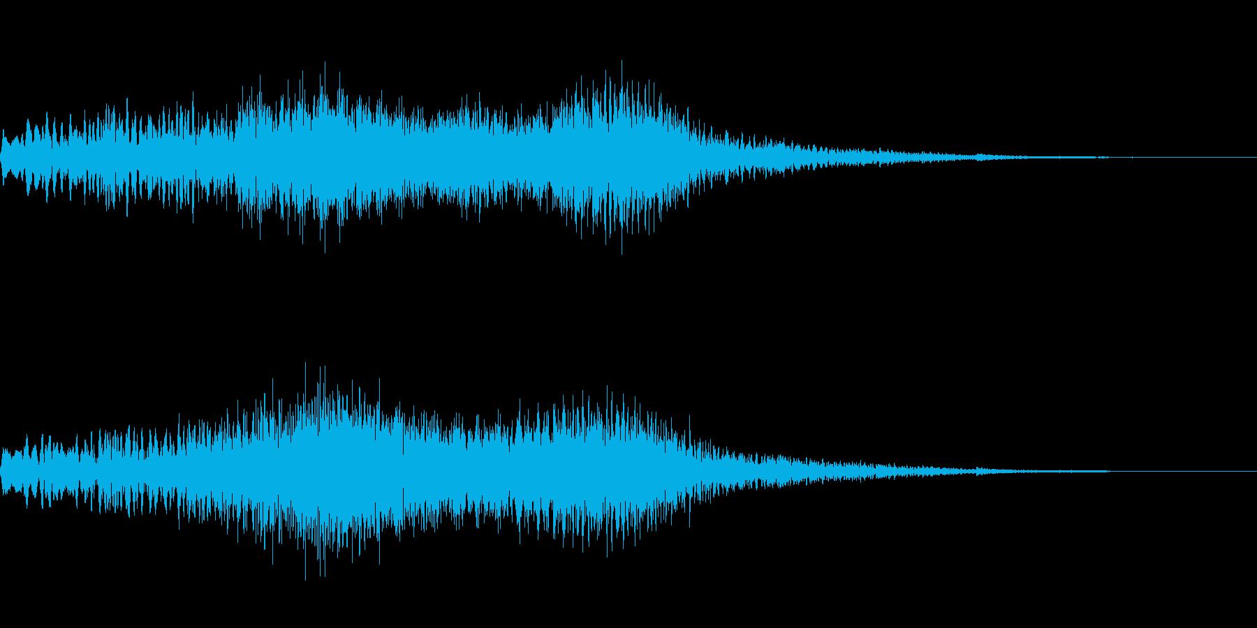 天使が舞い降りた時の効果音の再生済みの波形