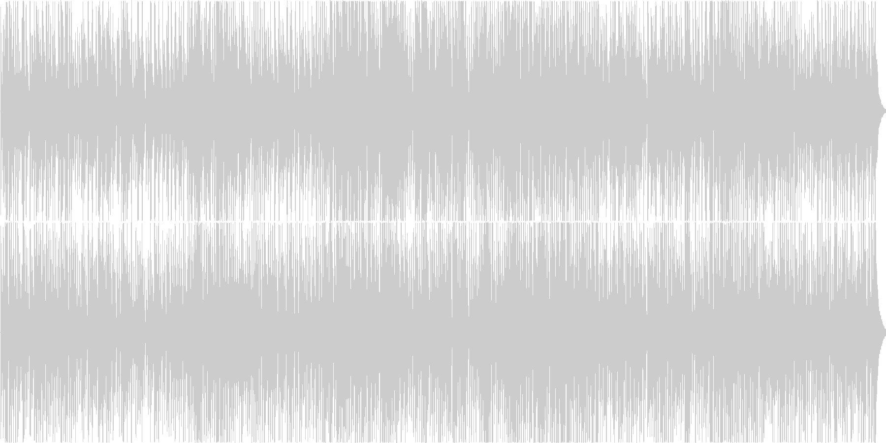 ちょっと怪しいジャズの未再生の波形