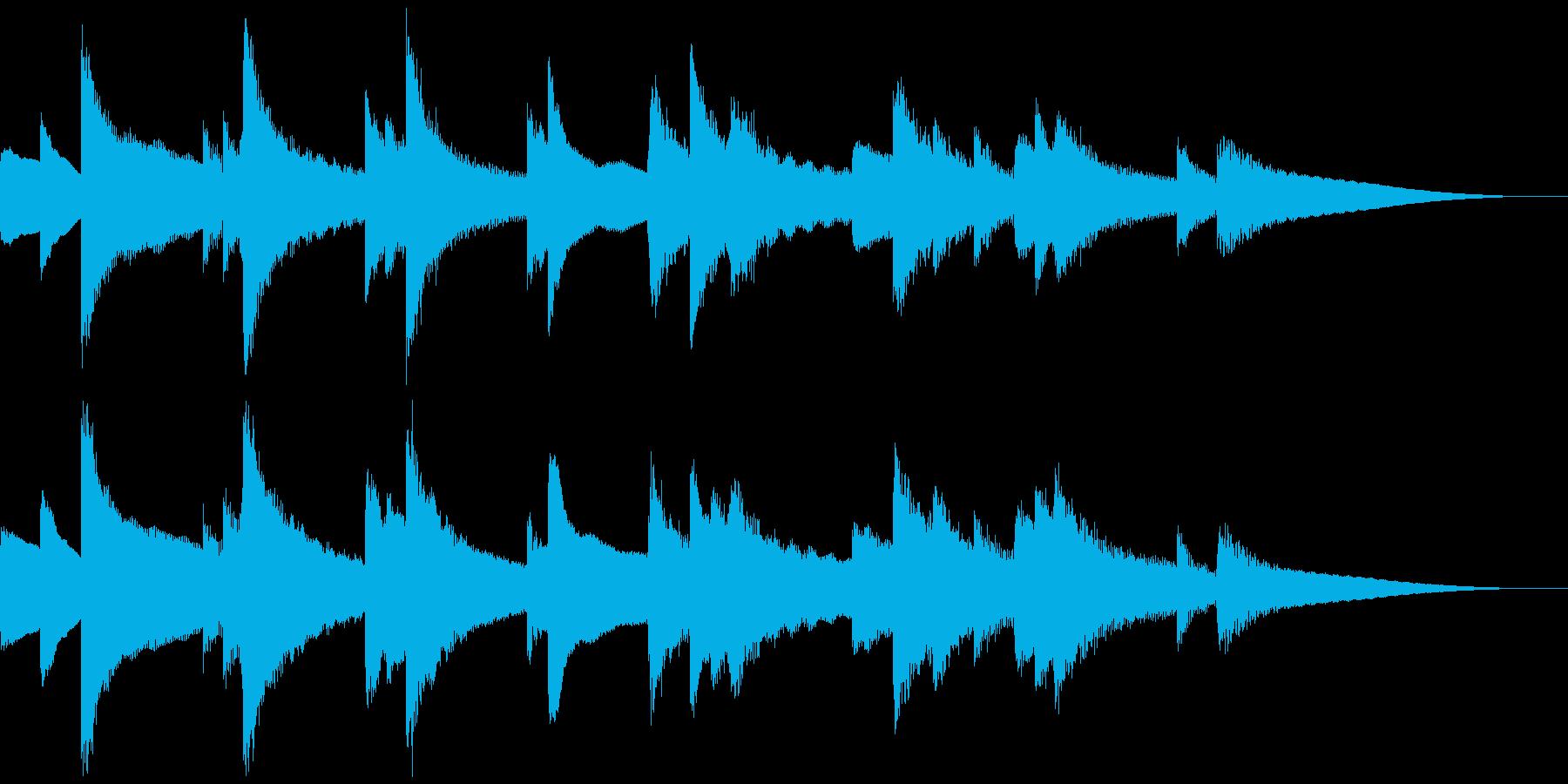 おしゃれで雰囲気があるBGMの再生済みの波形