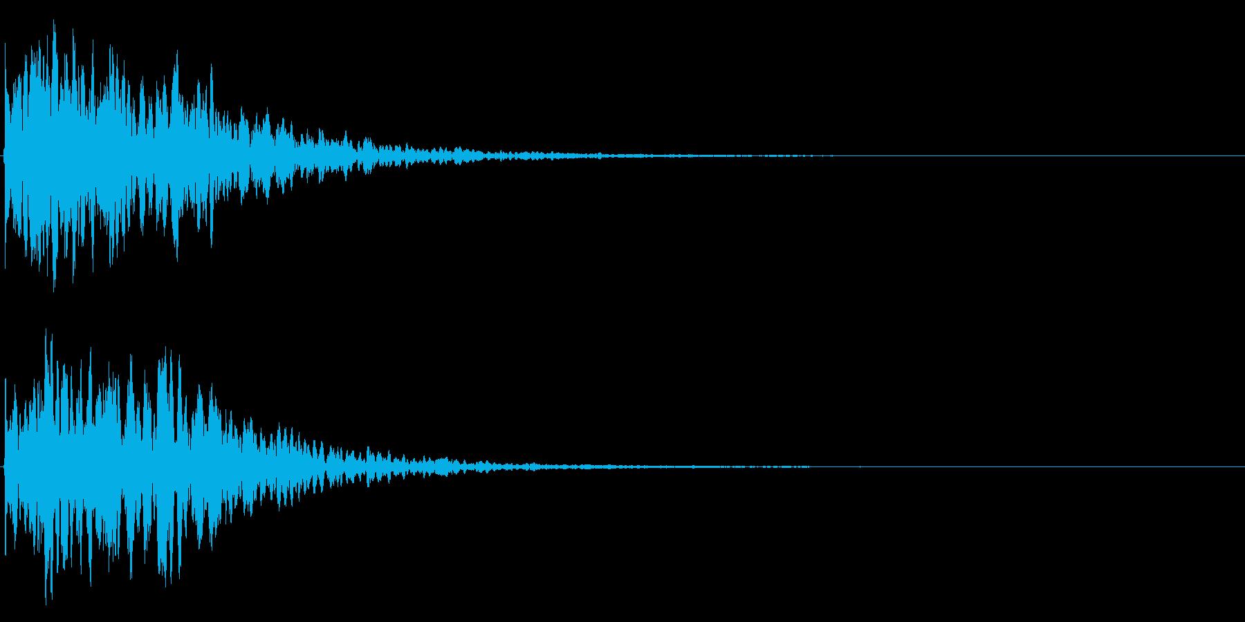 ゲームスタート、決定、ボタン音-033の再生済みの波形