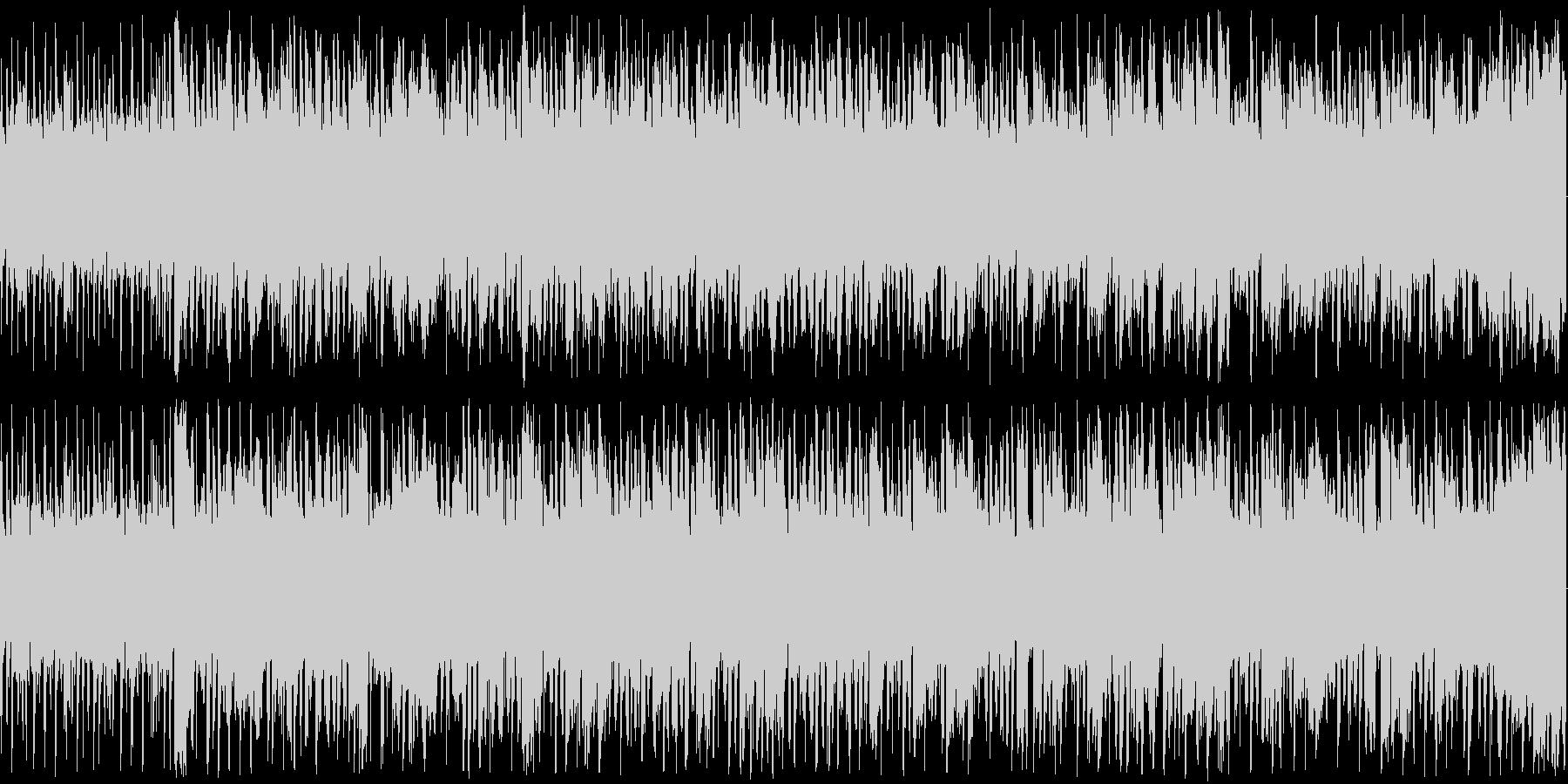 楽しくコミカルな雰囲気のBGMですの未再生の波形