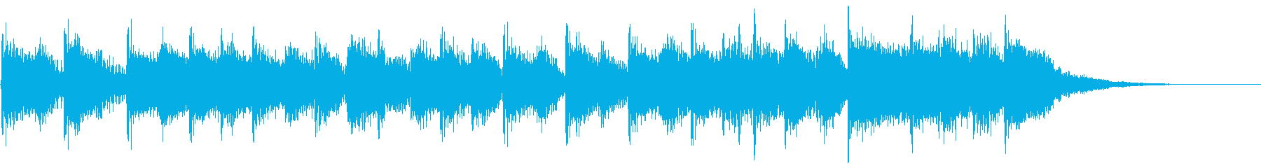 スポーツ系ジングル(9秒)の再生済みの波形