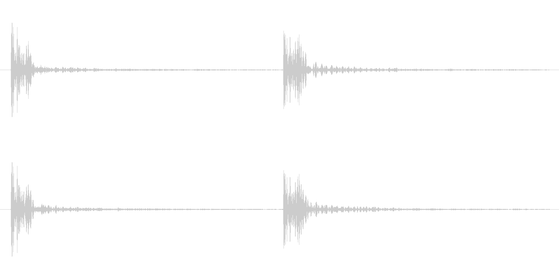 足音の効果音 重い足音 重量感のある足音の未再生の波形
