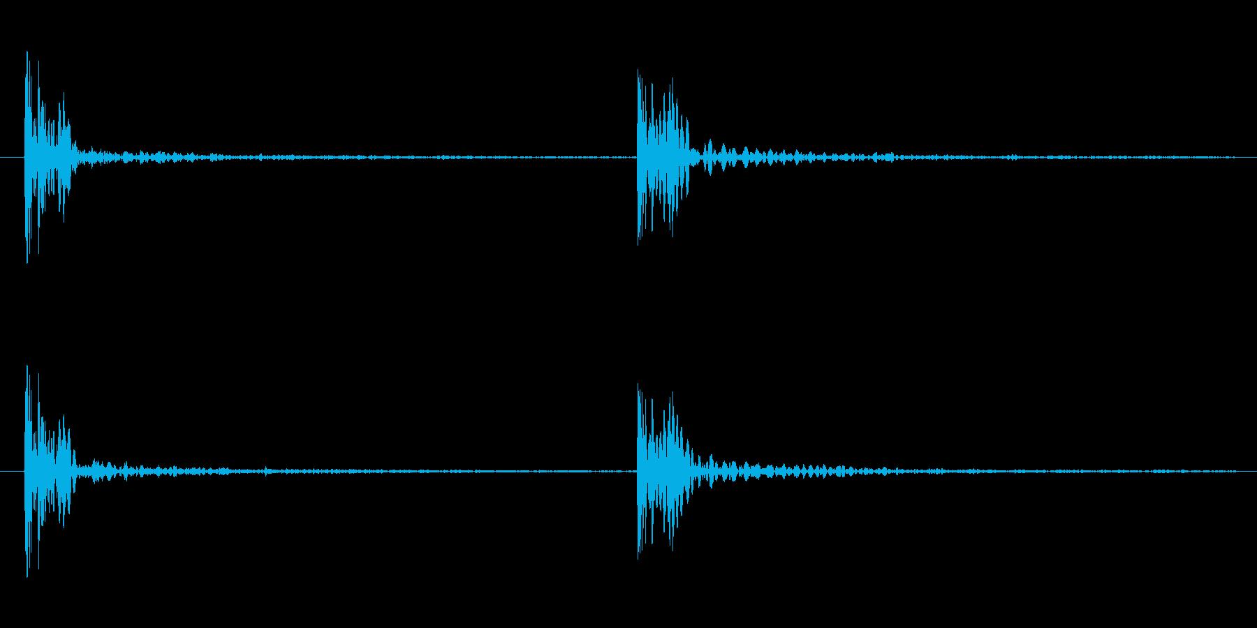 足音の効果音 重い足音 重量感のある足音の再生済みの波形
