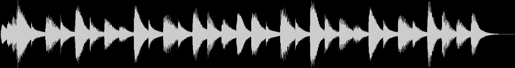 マリンバの優しいジングルの未再生の波形
