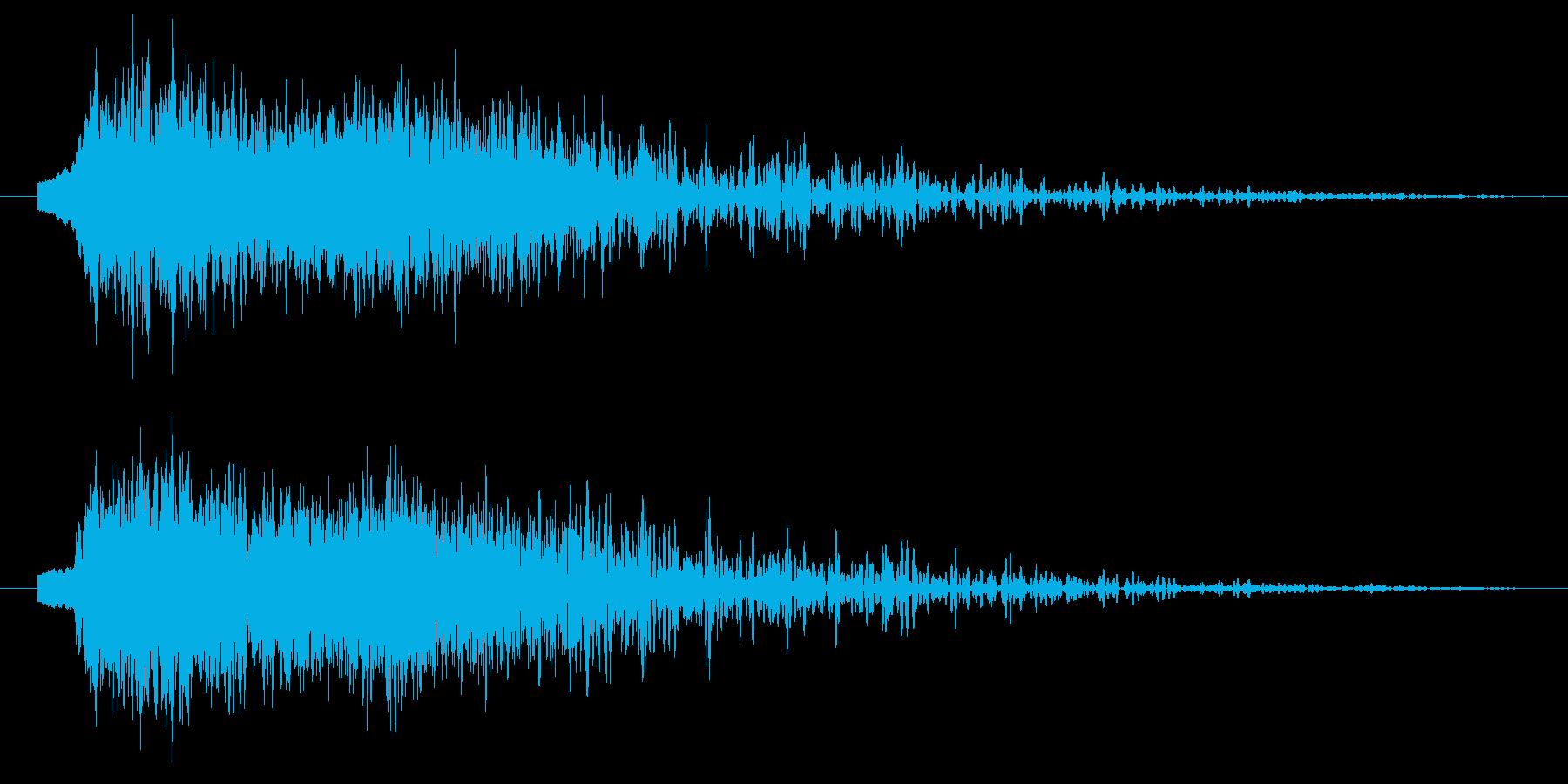 ロボットの足音(ズシン)の再生済みの波形